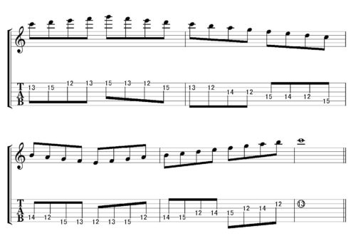 Cmajor scale position 5-3