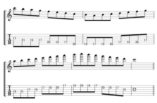 Cmajor scale position 7-4