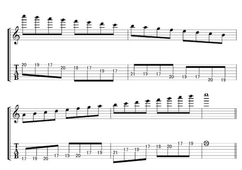 Cmajor scale position 7-5